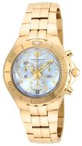 Technomarine Sea Stainless Steel 14K Gold White Dial 5040.D Quartz Watch, 40mm