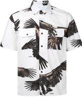 Yoshio Kubo eagle print short sleeve shirt - men - Cotton - 1