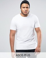 Asos PLUS Longline Muscle T-Shirt In White