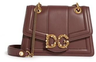 Dolce & Gabbana Small Leather Amore Shoulder Bag