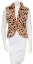 Jocelyn Printed Fur Vest w/ Tags