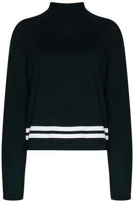 LNDR Green Arctic knit high-neck sweater
