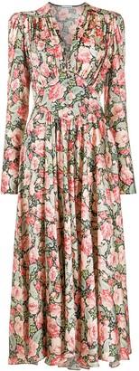 Paco Rabanne Floral-Print Maxi Dress
