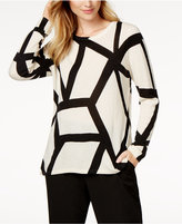 Charter Club Cashmere Geo-Print Sweater, Created for Macy's