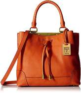 Frye Fay Small Drawstring Framed Bag, Orange