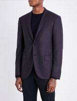 Corneliani Academy-fit micro-check wool jacket