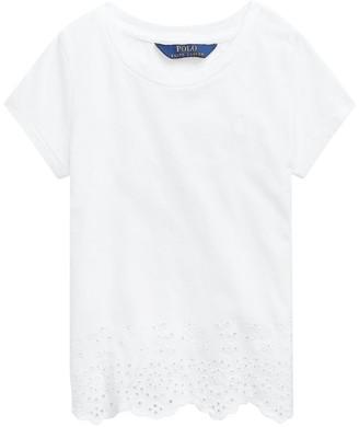 Ralph Lauren Kids Broderie Anglaise T-Shirt (7-14 Years)