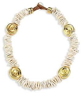 Lizzie Fortunato Women's Aphrodite Goldplated & Freshwater Pearl Collar Necklace