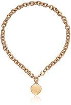 "GUESS Basic"" Gold G Logo Heart Pendant Necklace, 16"""