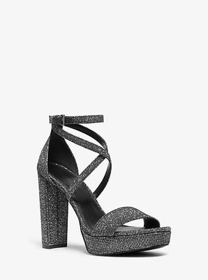 Michael Kors Charlize Glitter Platform Sandal