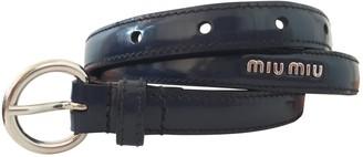 Miu Miu Navy Leather Belts