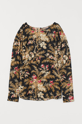 H&M H&M+ Batwing-sleeved Blouse