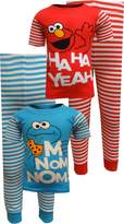 Sesame Street Boys' Elmo 4-Piece Cotton Pajama Set