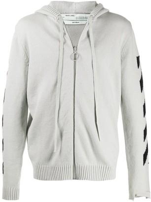 Off-White Intarsia-Knit Hoodie