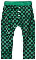 Bobo Choses Deep Green Checked Baby Tracksuit Trousers