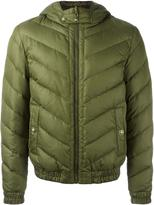 Versus hooded quilted jacket - men - Feather Down/Polyamide/Polyester/Wool - 46