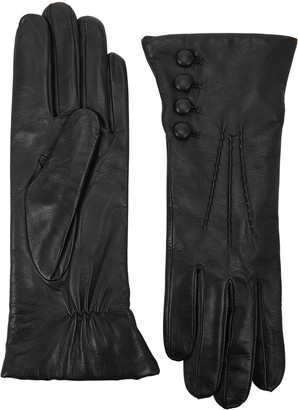 Dents Evelyn Black Leather Gloves
