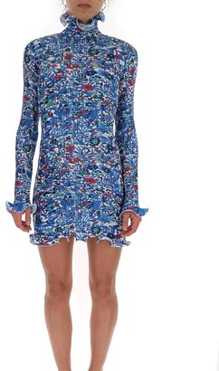 Givenchy Pleated Floral Print Dress
