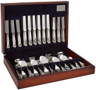 Carrs of Sheffield Silver Kings Silver Plated 60-Piece Canteen