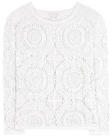 Diane von Furstenberg Nola Crochet-knit Cotton Sweater