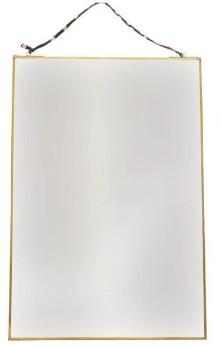 Nkuku Antique Brass Large Kiko Mirror