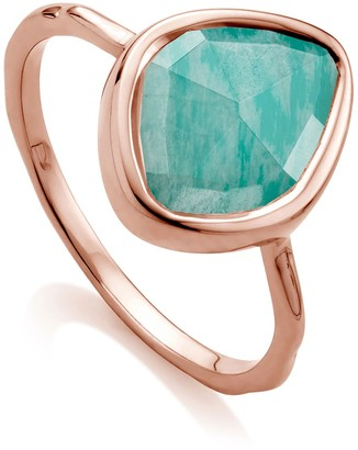 Monica Vinader 18K Rose Gold Plated Sterling Silver Siren Small Nugget Stacking Ring