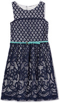 Speechless Midnight Crochet Sleeveless Dress - Girls