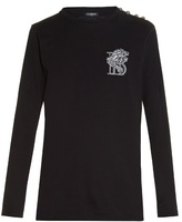 Balmain Logo-embroidered Long-sleeved T-shirt