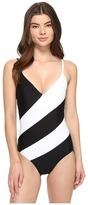 MICHAEL Michael Kors Regatta V-Neck One-Piece