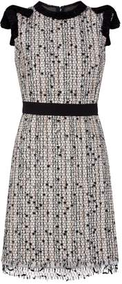 Giambattista Valli Tweed Embellished Mini Dress