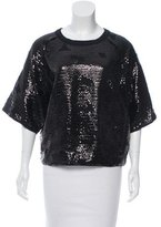 See by Chloe Sequin Short Sleeve Top