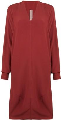 Rick Owens Midi Sweatshirt Dress