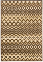 Ecarpetgallery Athina Rug - 4ft x 5ft - Beige/Dark Brown
