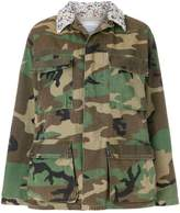 Forte Couture embellished camouflage military jacket