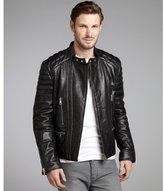 Gucci black leather zip motorcycle jacket