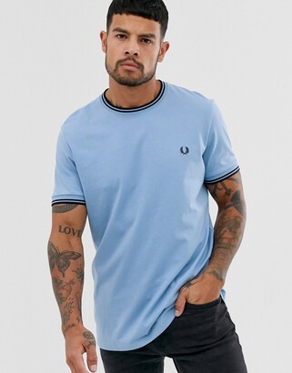 Fred Perry twin tipped t-shirt in light blue