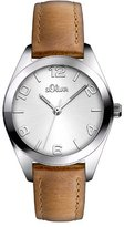 S'Oliver Women's Quartz Watch SO-2771-LQ with Leather Strap