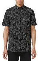 Topman Slim Fit Short Sleeve Print Shirt