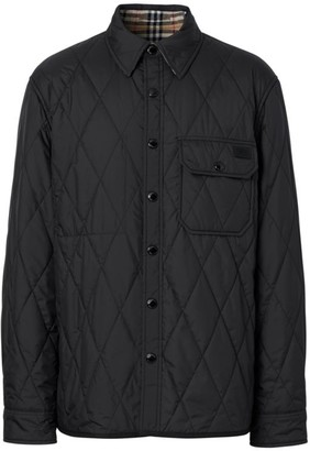 Burberry Cresswell Quilted Logo Overcoat