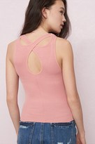 Garage Ribbed Tank Top With Back Detail