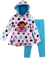 "Nickelodeon Dora the Explorer ""Flower Girl"" White Toddler Fleece Hoodie & Pants Set (12M)"