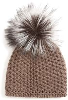 Inverni Silver Fox Pom Hat