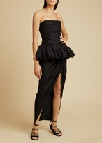 KHAITE The Gwen Dress in Black