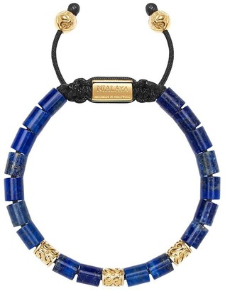 Nialaya Jewelry Adjustable Beaded Lapis Lazuli Bracelet