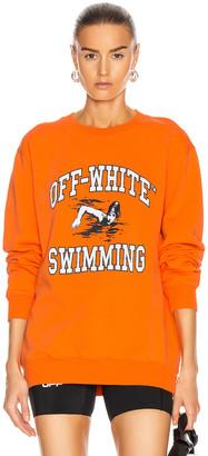 Off-White Swimming Crewneck Sweatershirt in Orange | FWRD