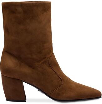 Prada block heeled booties