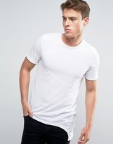 Jack and Jones Longline Sut and Sew T-Shirt
