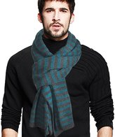VECRY Men's Stripe Long Scarf Soft Warm Thick Knit Winter Scarves