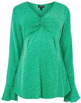 Topshop MATERNITY Long Sleeve Ruched Blouse