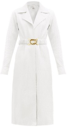 Dodo Bar Or Mia Tailored Textured-leather Dress - White